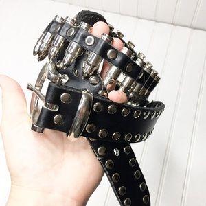 90's Punk Bullet Chain Belt